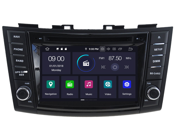 Suzuki Swift 2010-2017 radio navigatie Android 9 dab+ 64gb
