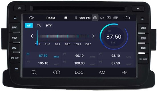 Dacia Duster 2010-2018 radio navigatie wifi Android 9 DAB+ 64GB
