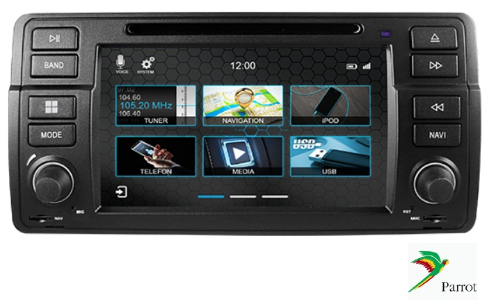 BMW E46 - 3 SERIE /M3 Navigatie dvd Parrot carkit android auto apple carplay usb DAB+