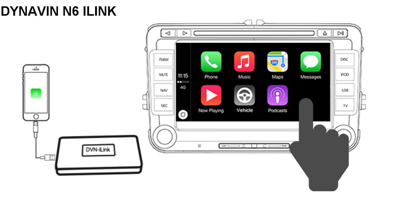 dynavin n6 i link carplay multimedia box