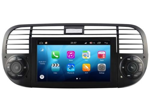 fiat 500 radio navigatie dvd carkit android 8 1 32 gb dab. Black Bedroom Furniture Sets. Home Design Ideas