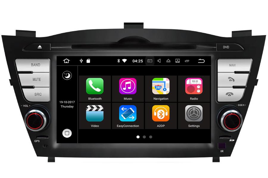 autoradio navigatie hyundai tucson dvd carkit android 8 1. Black Bedroom Furniture Sets. Home Design Ideas