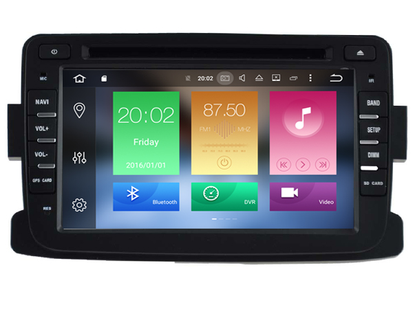 | Renault Duster radio navigatie wifi Android 8.0 DAB+