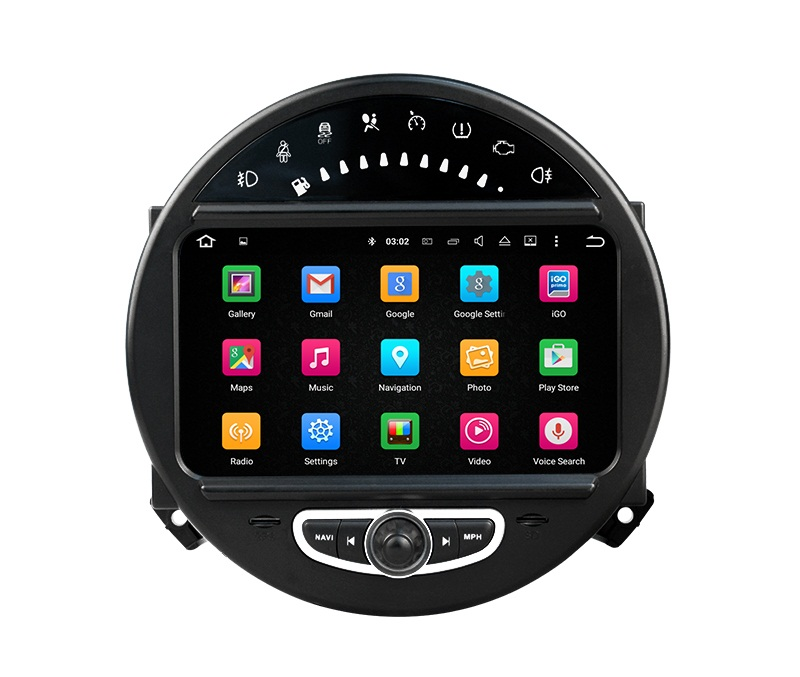 | Navigatie Mini Cooper one dvd carkit touchscreen usb sd wifi android 7.1.1