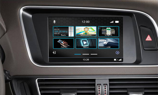 Navigatie Audi A5 vanaf 2008 parrot carkit android auto apple carplay TMC