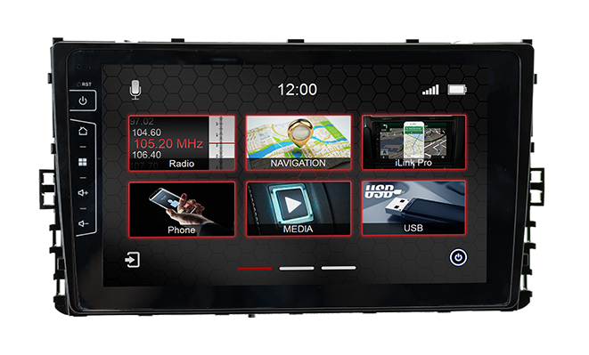 Navigatie voor VW Transporter T6 facelift touch Screen parrot carkit overname boordcomputer TMC Carplay android auto
