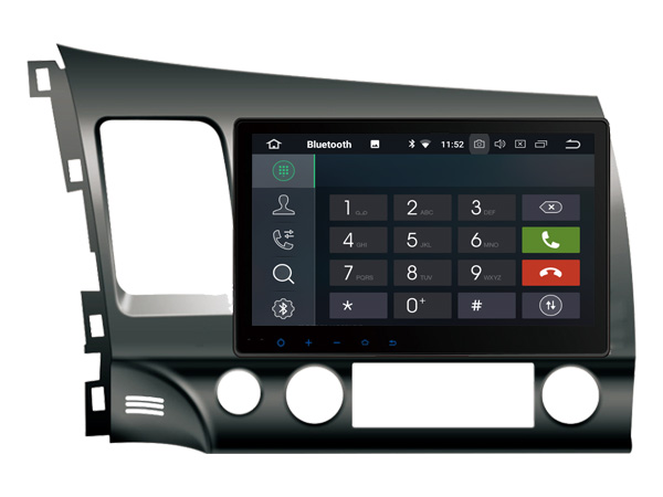 Honda Civic hybride 2007-2011 10.1 inch navigatie carkit android 9 DAB+ 32gb
