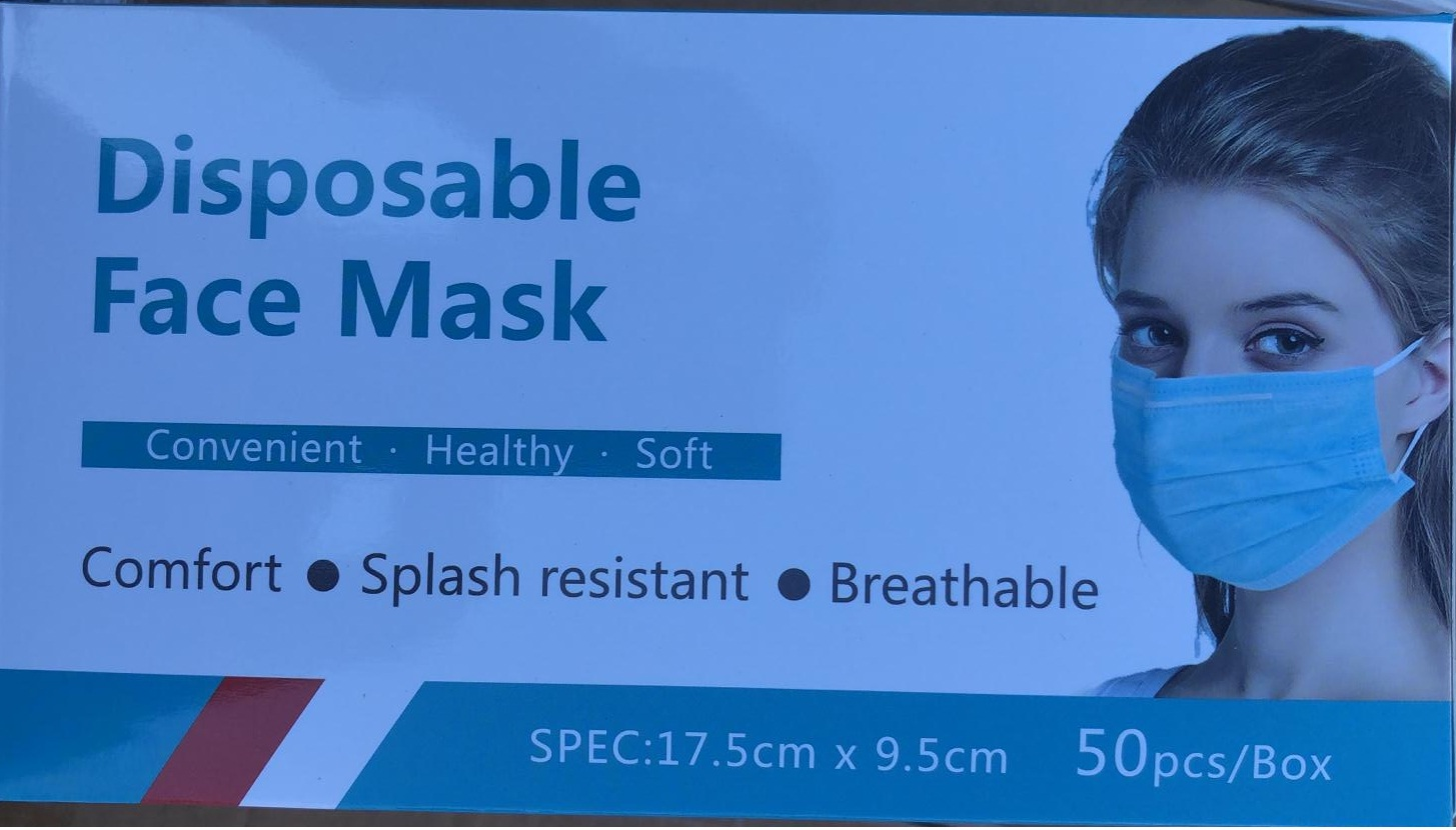 Disposable Mondkapjes Face Mask High Efficiency 3 - Layers 50 stuks per doos