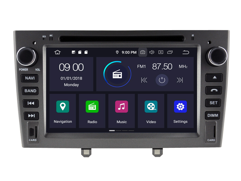 Navigatie Peugeot 308 2007-2013 dvd carkit usb android 10 DAB+ 64GB