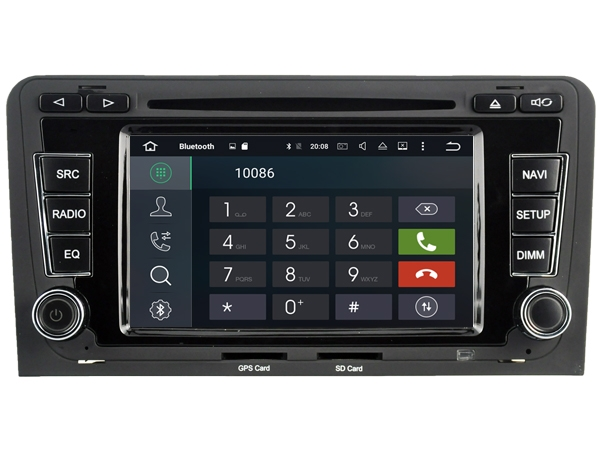 | Navigatie AUDI A3 2003-2012 dvd carkit android 8 Octacore 32 GB DAB+