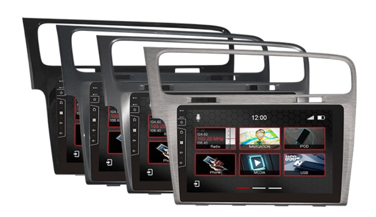 | Navigatie VW Golf 7 10.1 Touch Screen parrot carkit overname boordcomputer TMC DAB+