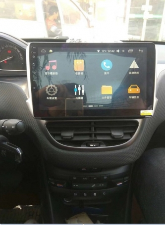 Peugeot 208/2008 navigatie carkit full touch usb android 9 dab+