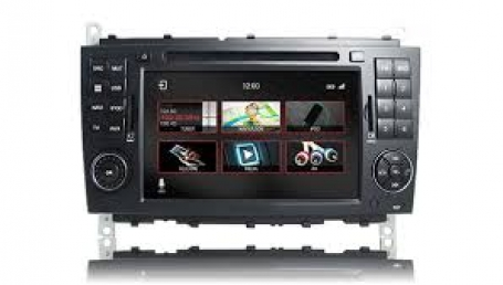 Mercedes C Klasse 2004-2007  navigatie dvd Parrot android auto apple car play DAB+ TMC