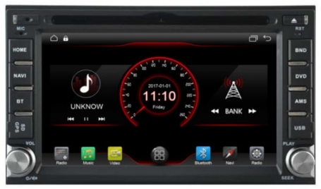2 din auto radio navigatie dvd carkit android 9 usb wifi  DAB+