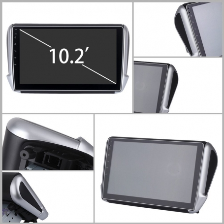 Peugeot 208/2008 navigatie carkit full touch usb android 8 dab+