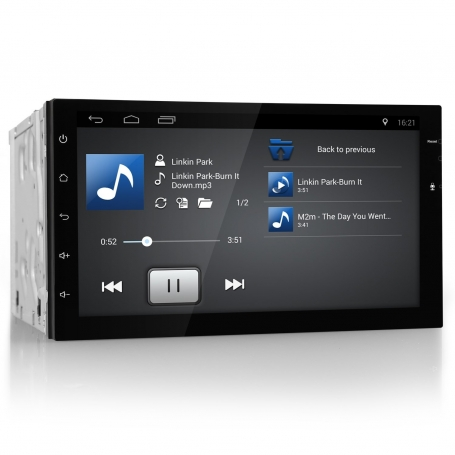 2 din radio navigatie 7 inch touchscreen carkit android 6.0 dab+