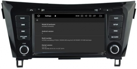 Nissan Rogue 2013-2017 navigatie dvd carkit android 10 DAB+ 64GB