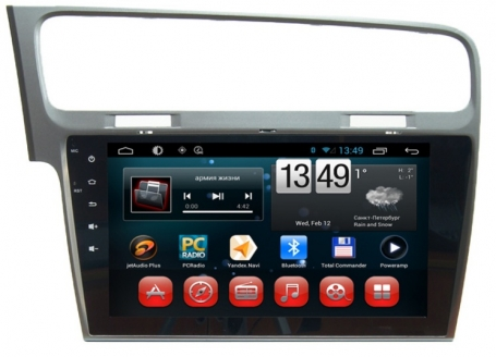 VW Golf 7 radio navigatie 10,1 inch touchscreen A9 Cortex android 6.0