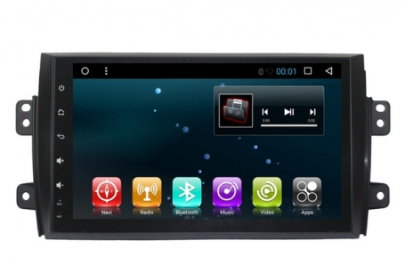 Fiat Sedici 2006-2013 navigatie carkit full touch usb android 9 dab+
