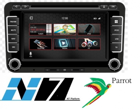 Skoda Yeti Navigatie dvd Parrot carkit apple carplay android auto TMC