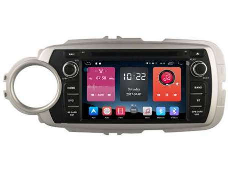 Navigatie toyota yaris dvd carkit android  6.0.1 usb dab+