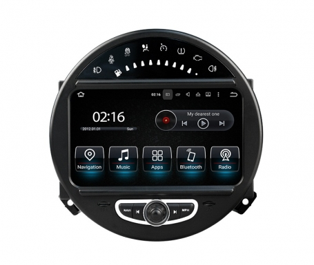 Navigatie Mini Cooper one dvd carkit touchscreen usb sd wifi android 7.1.1