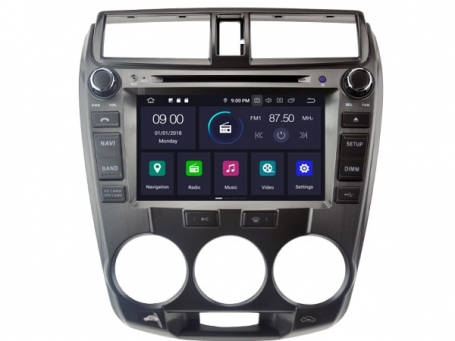 Honda City navigatie 2008 tot 2014 android 10 carkit usb 64GB