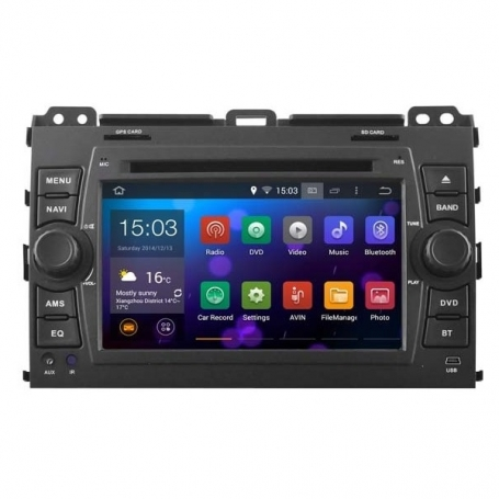 Navigatie toyota landcruiser 120 dvd carkit android  6.0.1 usb dab+