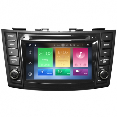Suzuki Swift 2010-2017 radio navigatie Cortex Android 8.1.1 dab+
