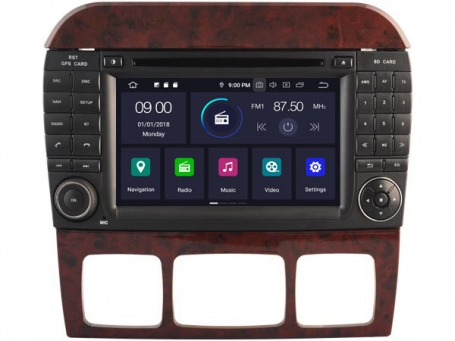 Mercedes S W220 radio navigatie bluetooth android 9 usb DAB+