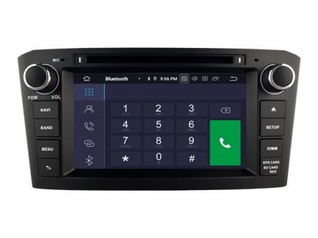 Toyota avensis navigatie 2005-2008 dvd carkit android 10 dvd usb dab+