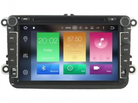 vw rns 510 radio navigatie 8 inch carkit usb sd wifi android 8.1 carkit DAB+